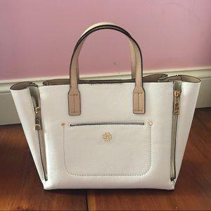 Small Ann Taylor Signature White Bag